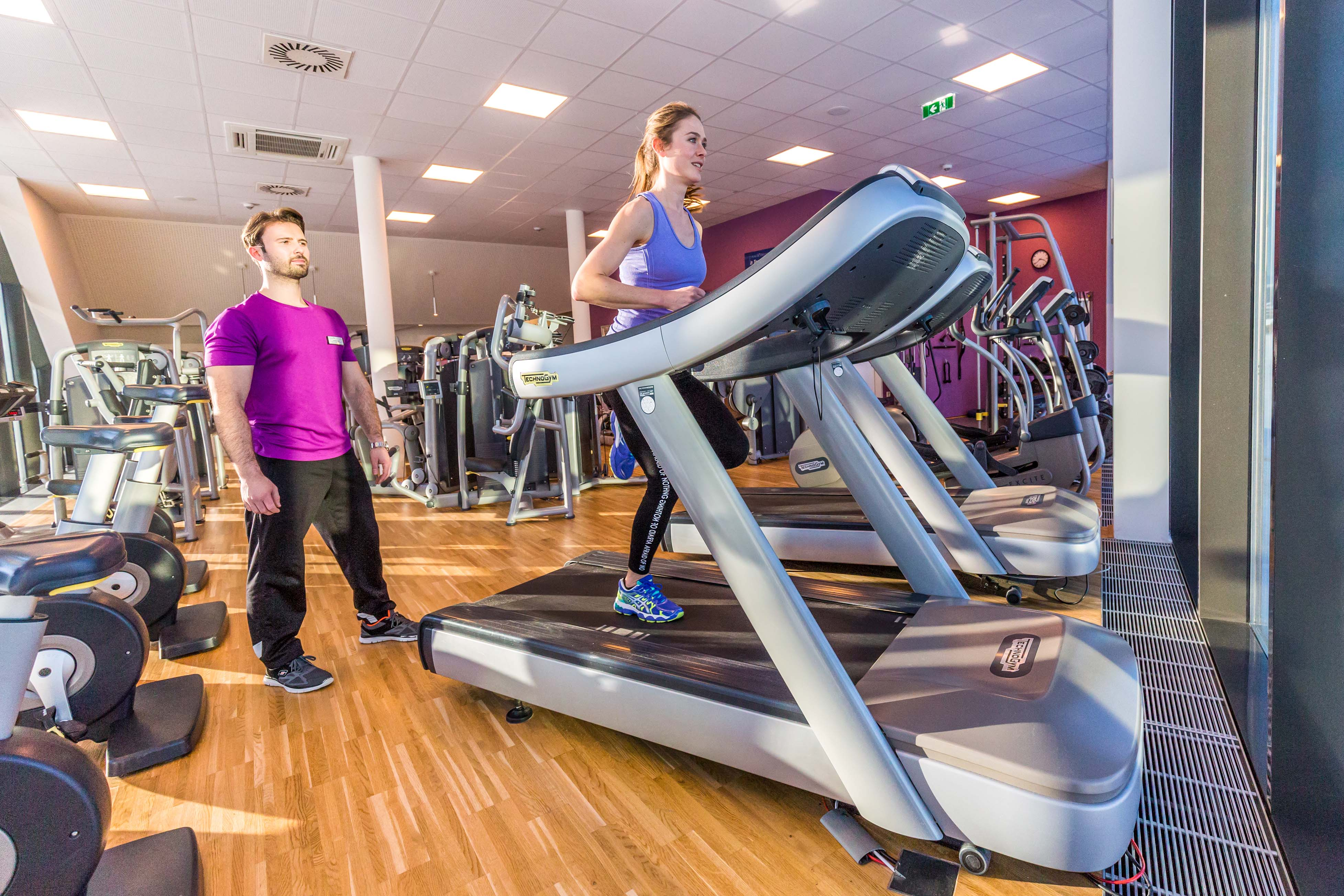 Fitness Laufband Frau