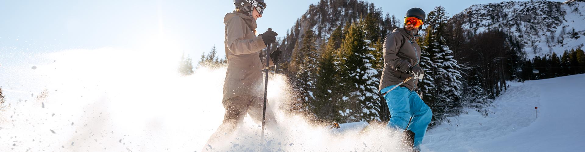Loser Skifahren Schnee Aufwirbeln